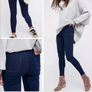 NWT Free People Easy Goes It Denim Leggings 24